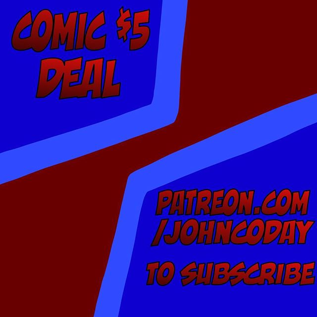When you subscribe to reserve monthly comics, select the $5 tier to get exactly half off of the comics every month, FOR LIFE, pretty sick if you ask me!! John Coday Comics are now being produced each month and now with the potential of two comics in each book sent out! Books will start being printed once the Patreon goal of 20 is hit! Check out Patreon.com/Johncoday for more information! #illustration #kcai #art #webcomic #comicbooks #comicseries #comicart #lifewater