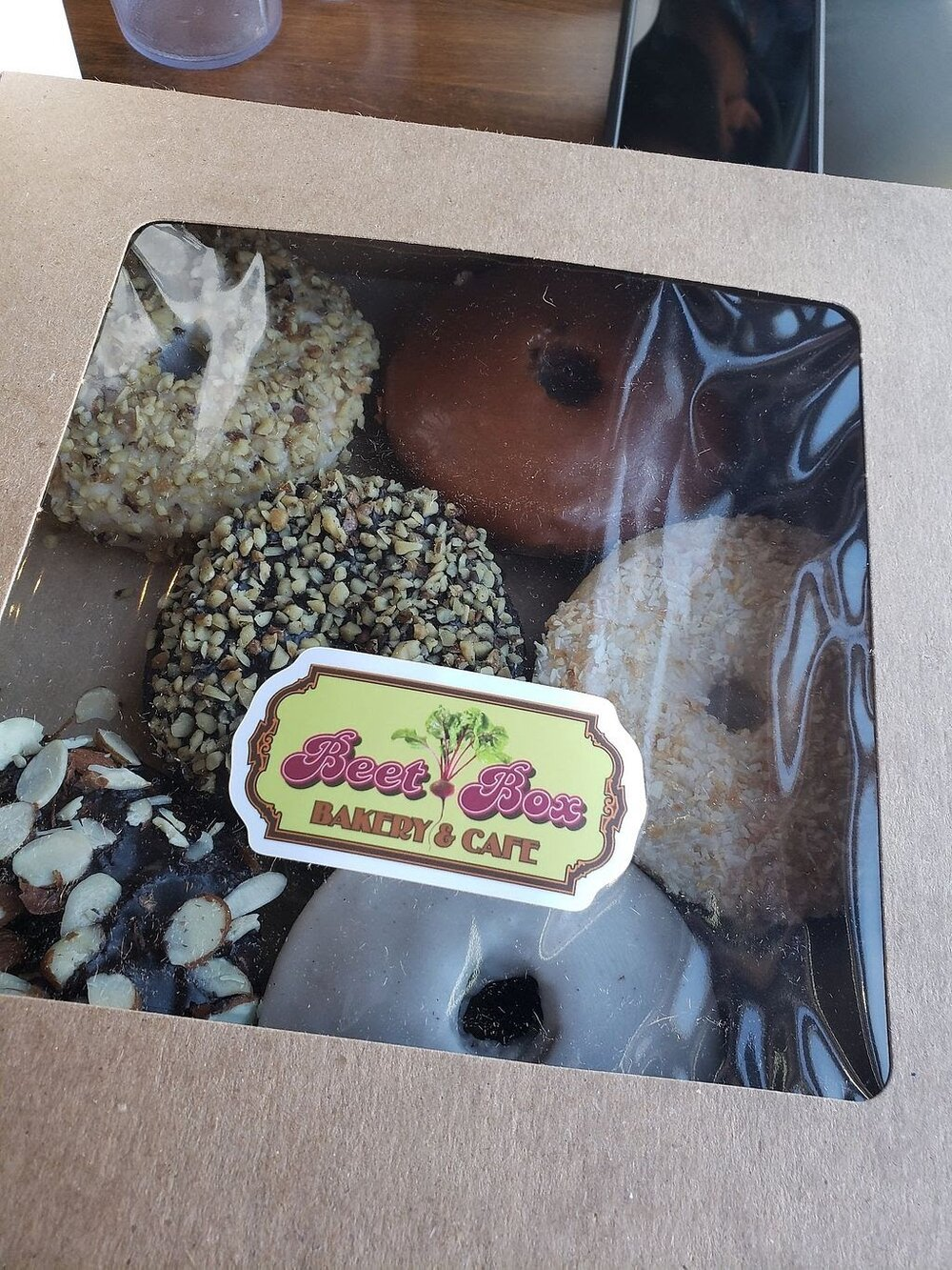 Why just one? Grab a box of donuts to go before heading out from Beet Box Bakery.