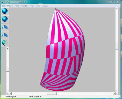 Design - South East Asia Sails (SEAS) uses Prosail sail design software and plotter. As an integral part of the sailmaking process it allow us to see in 3D the sail and understand the aerodynamic force exerted, thus improving on the performance of the sail.