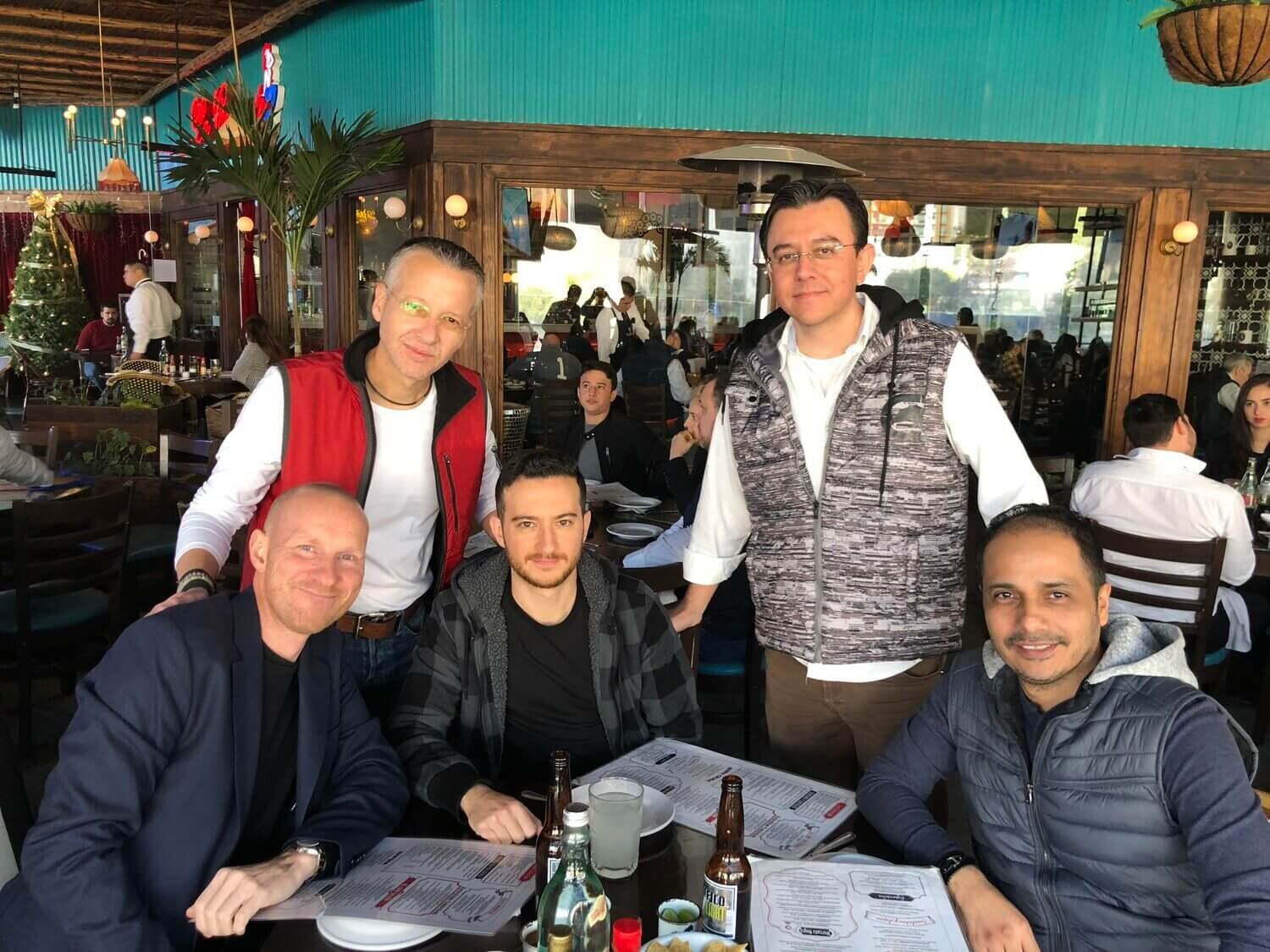 """Bjarke Calvin, CEO & Founder: """"The Duckling team is spread across the globe, so we are still working on a full group picture. But here I am with Jorge, Rafa, Humberto and Marco from our Mexican team. It's me in the lover left corner"""""""