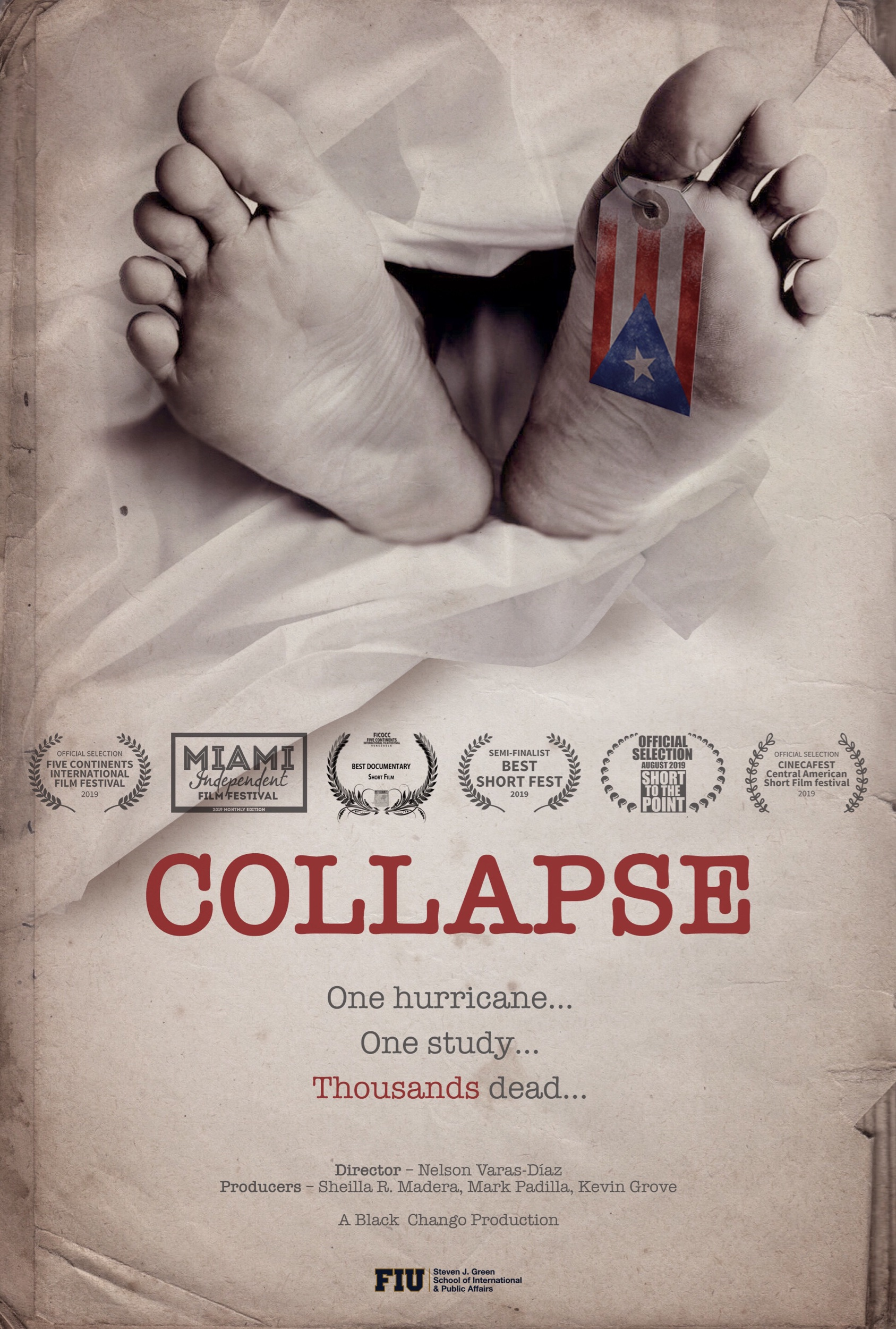 Collapse premiered for the community on this site on September 20, 2019. - It is now currently part of several international festivals. It will be back on this site on January 2020.
