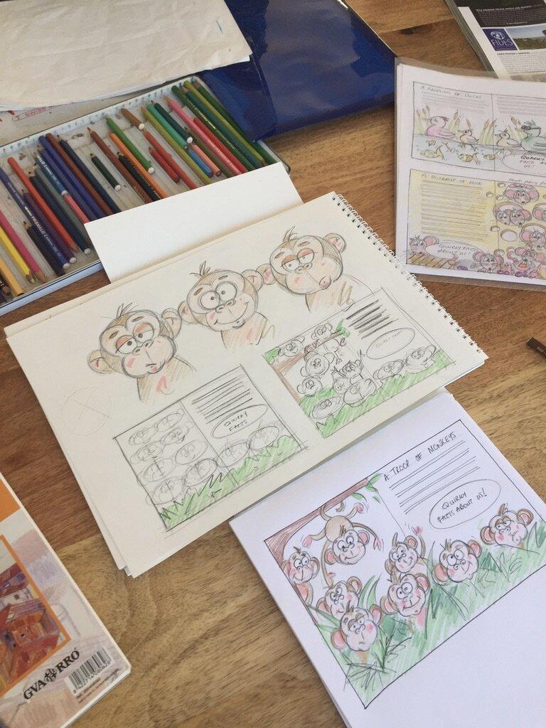 Sketchy monkeys