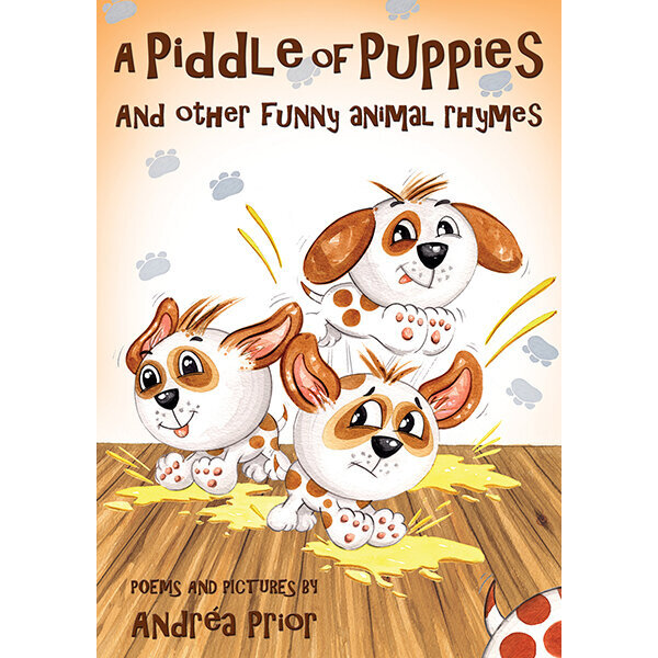 A Piddle of Puppies - Accompanied by Andréa's watercolour illustrations, she leads children through the weird and wonderful names for groups of animals and with engaging questions and fascinating facts at the end of each rhyme, it is a perfect way to learn about animals and their behaviours.Children of 5 – 9 years will be enchanted to read about these unusual sounding names, such as a mischief of mice, a crossing of zebras, a shiver of sharks and of course, a piddle of puppies!Click below to buy this book directly from my publisher's website.