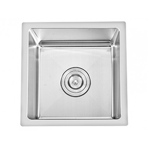 "ZP1313HMR - Square Bar SinkStainless Steel16 GaugeHandmadeAccessories: Grid includedBowl Size: 13"" x 13""*Rounded Corners"