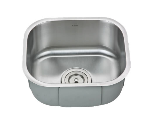 "Kazza KB18-SP7 - Small Rectangular Bar SinkStainless Steel18 GaugeMachine Pressed Accessories: Grid available for purchaseBowl Size: 13 3/4"" x 11 3/4""7"" DeepMinimum Cabinet Size: 15 1/2""*Must be mounted horizontally (logo on long side)."