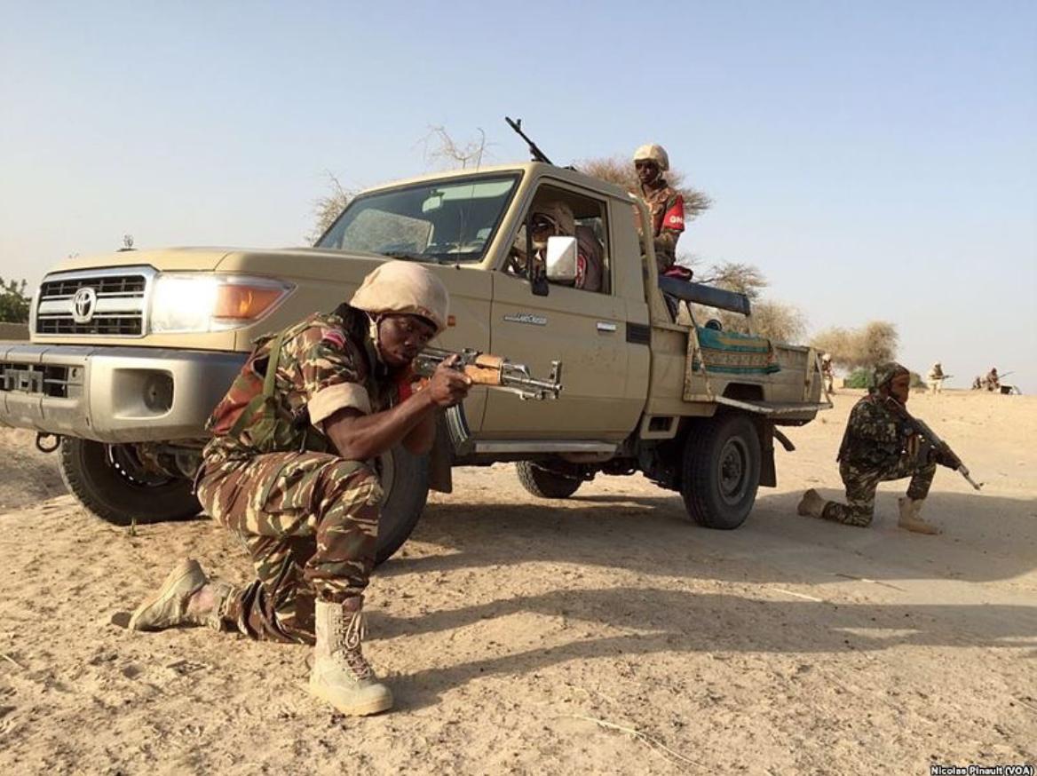 Source: Nigerian Soldiers in February 2016, Credit Wikimedia  https://commons.wikimedia.org/wiki/File:Nigerian_Army_Boko_Haram_demonstration.jpg