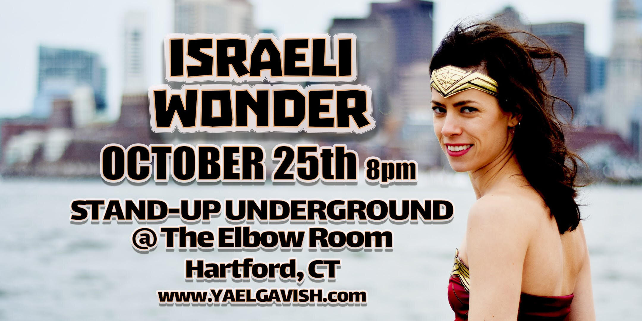 """""""Israeli Wonder"""" is a stand-up performance interlaced with stories about life, love, and experiences as an Israeli living in America, growing up with a  very  Jewish single mother and many comedy songs inspired by those subjects and more.    All of the above comes wrapped up in one show performed in English with an ever present thick Israeli accent."""