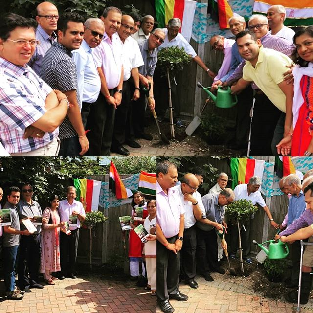 To mark the 150th Birth Anniversary of Mahatma Gandhi, we are excited to share a special environmental initiative aiming to spread the message of peace and harmony: 🌳🌳🌳Planting for Peace🌳🌳🌳 The flagship project under the initiative brings together all Jain organisations under the OneJAIN network in the establishment of a permanent AHIMSA PEACE FOREST involving planting over 1500 trees and bulbs at Kenton Recreation Ground.  The initiative was launched on 25th August with the planting of the first 'Peace Tree' at the Kenton Derasar with Heads of leading Jain organisations pledging support for the flagship project.