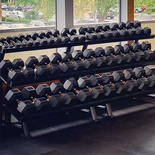 Pump it up! Free weights are here. #trufitatvws #personalfitness #trainingfacility #vancouverwa #comingsoon