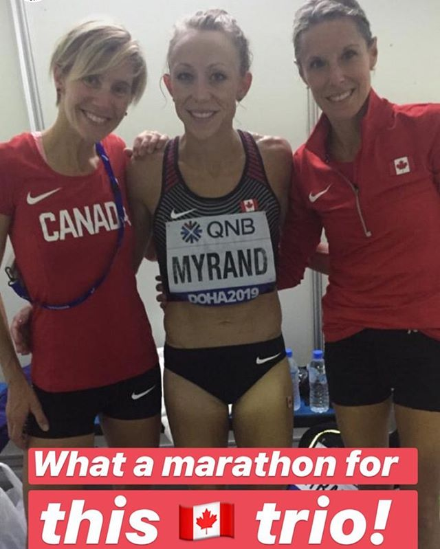 🇨🇦 Congratulations @melmyrand ! Finishes in 27th place in the @iaafdoha2019 World Championships marathon with a time of 2:57:40, what a run! 🏃♀️#McGillPride #alumni