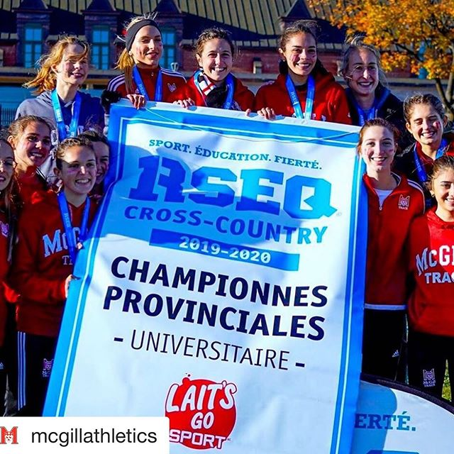 ❤️ #Repost @mcgillathletics ・・・ 🏆 🏆 🏆 Martlets cross country are @rseq1 champions! Elizabeth Hirsch led McGill with a silver medal finish, marking the programs 31st title in 40 years 🥶