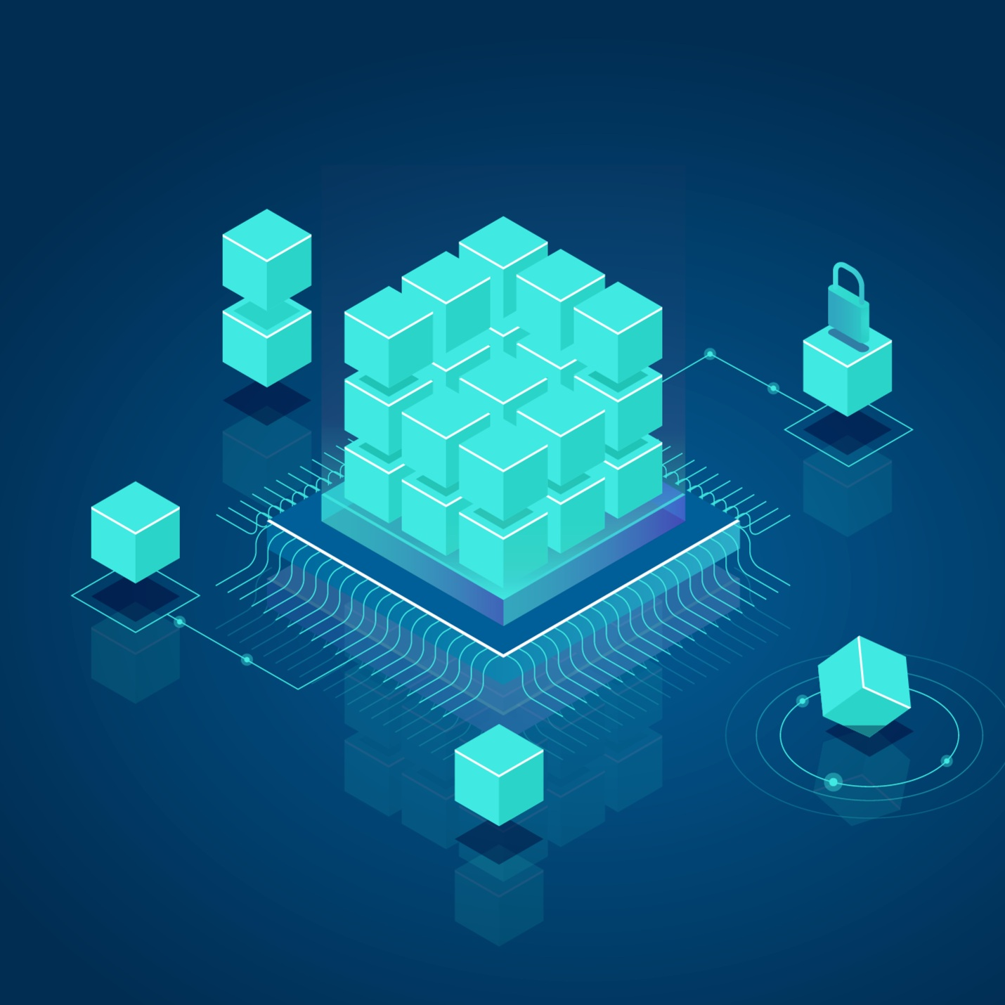 BLOCKCHAIN DDL - Compliance at its core.The core of 7QUBES is built with the latest compliance and security needs. Blockchain infrastructure gives an add on compliance benefit for the enterprise. It keeps an honest record and provides an audit trail from start to finish where no one can alter.