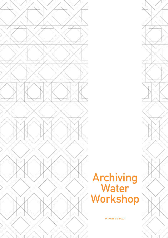 Archiving Water Workshop