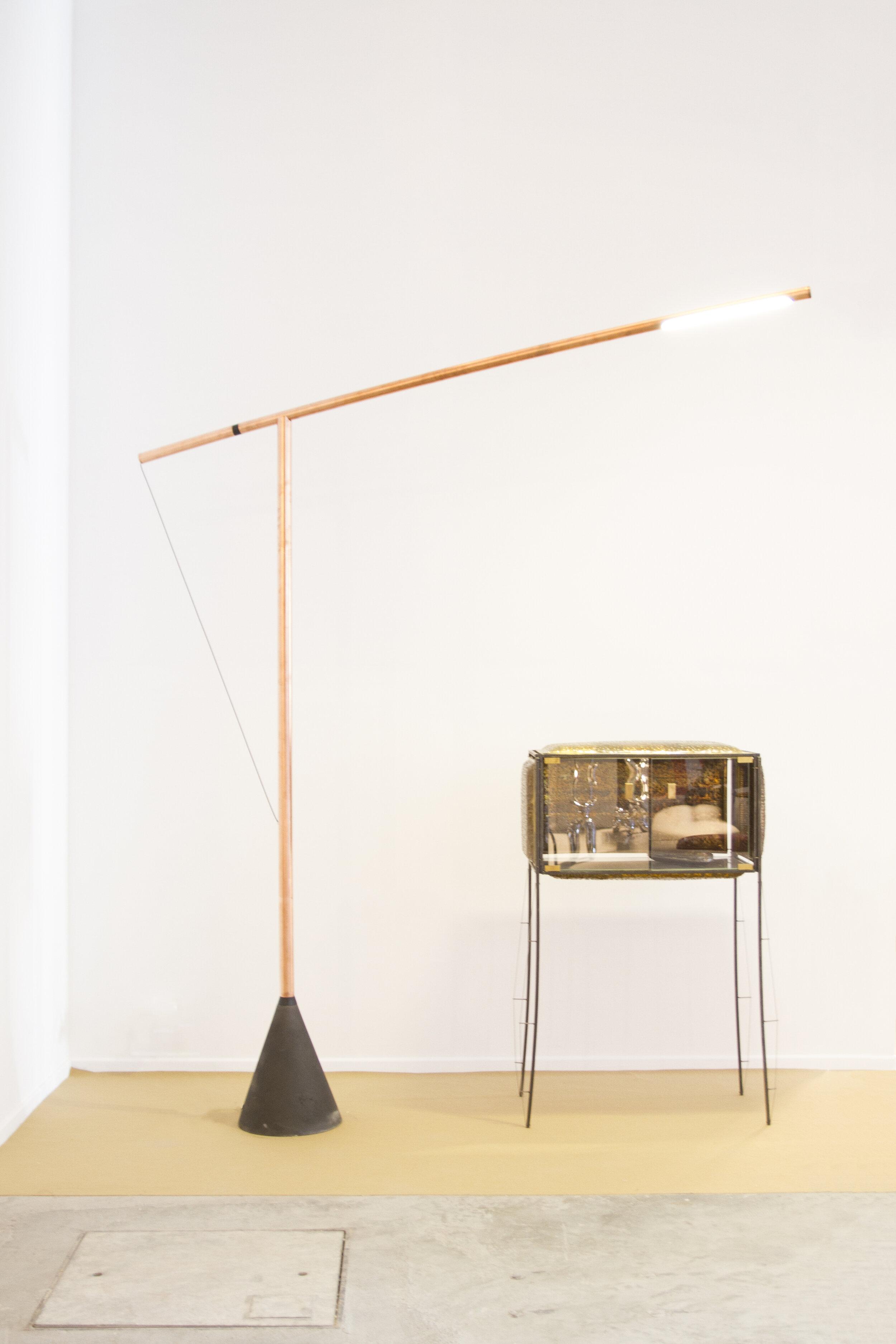 Light by Studio Mieke Meijer / Cupboard by Niek van der Heijden