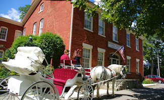 Experience Marshall from a horse drawn carriage as you escape the hustle and bustle and slow you down to days gone by. Bicycle rentals also available from Marshall Carriage Co .  269-781-8818
