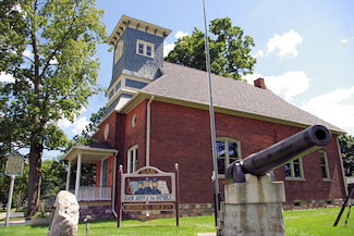 Marshall Historical Society's archival Center and Military Museum. The majority of the displays are from the Civil War era, and are of or from Marshall veterans. Open June-August on Saturdays, noon to 4:00 p.m