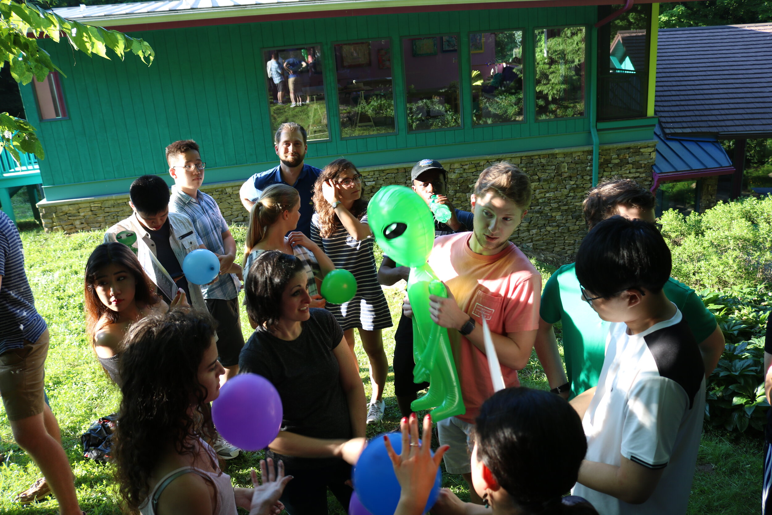 House competition games at our 2018 summer launch party, featuring our alien friend.