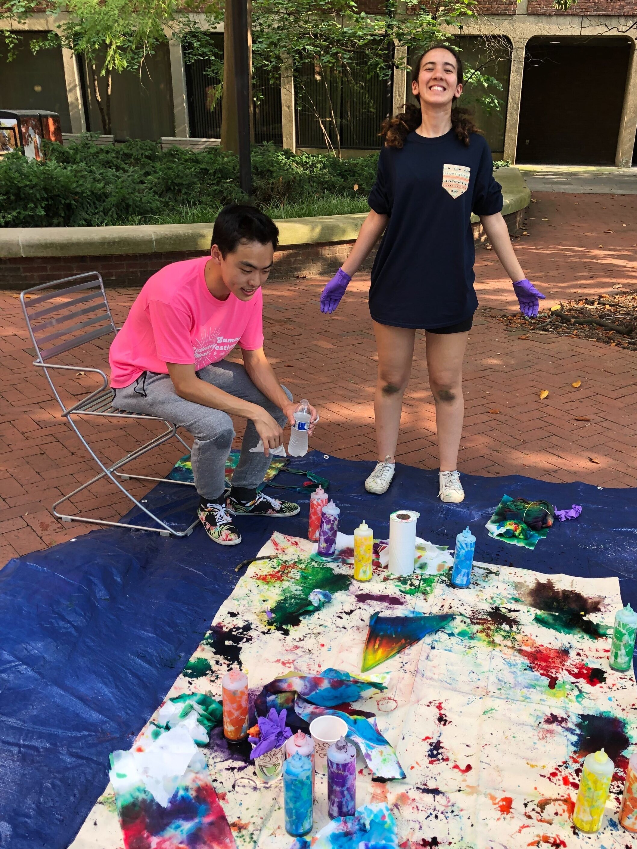 Tie-dying was part of our summer crafts series that  tied  in with our extinction theme!
