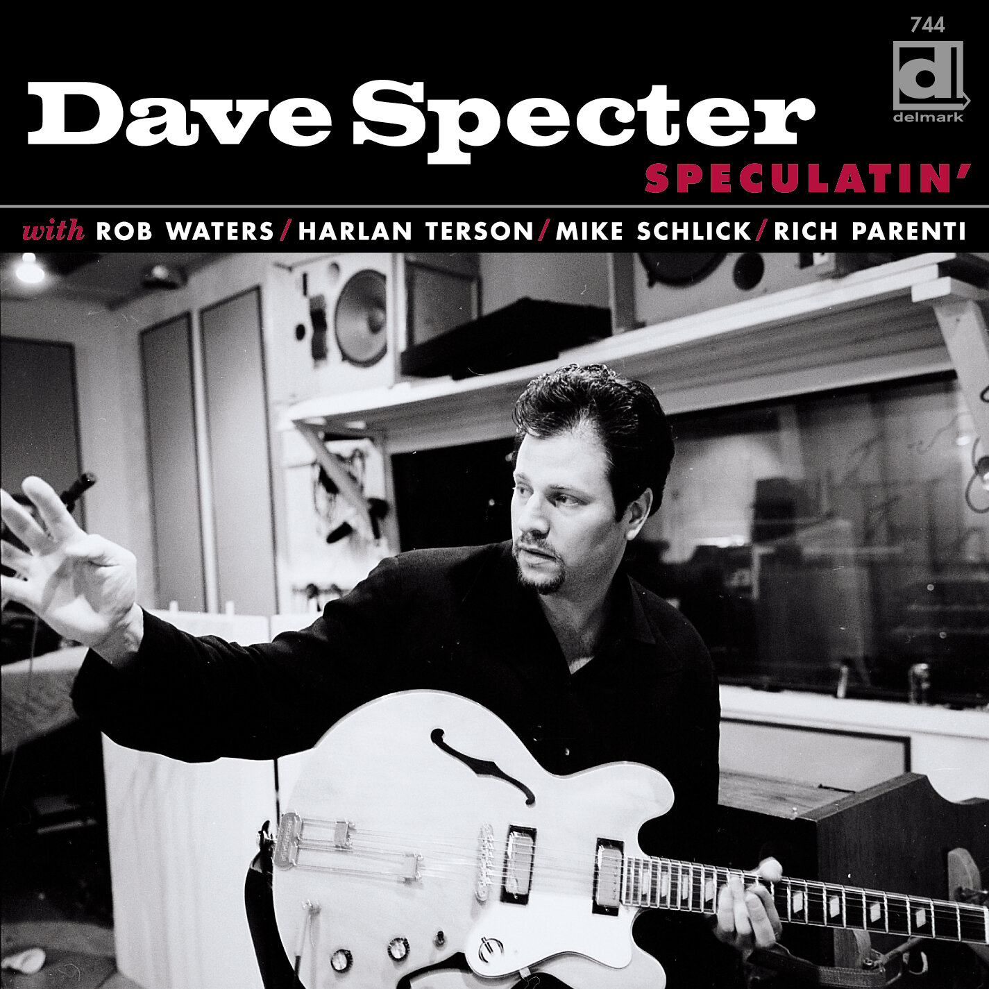 SPECULATIN' - Guitarist Dave Specter has always straddled the blues-jazz fence with a hip disregard for arbitrary restrictions. On Speculatin', his sixth Delmark CD, Dave has put his distinctive mark on a collection of outstanding instrumental tunes from all corners of these related genres, tossing in a latin beat and some greasy organ in addition to his unmistakable West Side and Texas-inspired blues licks. The result will please all lovers of lean, inspired guitar work and will astound the blues buyer who previously considered instrumentals to be mere CD filler. Speculatin' features nine original compositions and covers of tunes by Charles Earland, The Meters, Dizzy Gillespie and Junior Walker. Dave is accompanied by his working band of Rob Waters, Hammond B3 organ; Harlan Terson, bass; Mike Schlick, drums; and Rich Parenti, tenor sax.