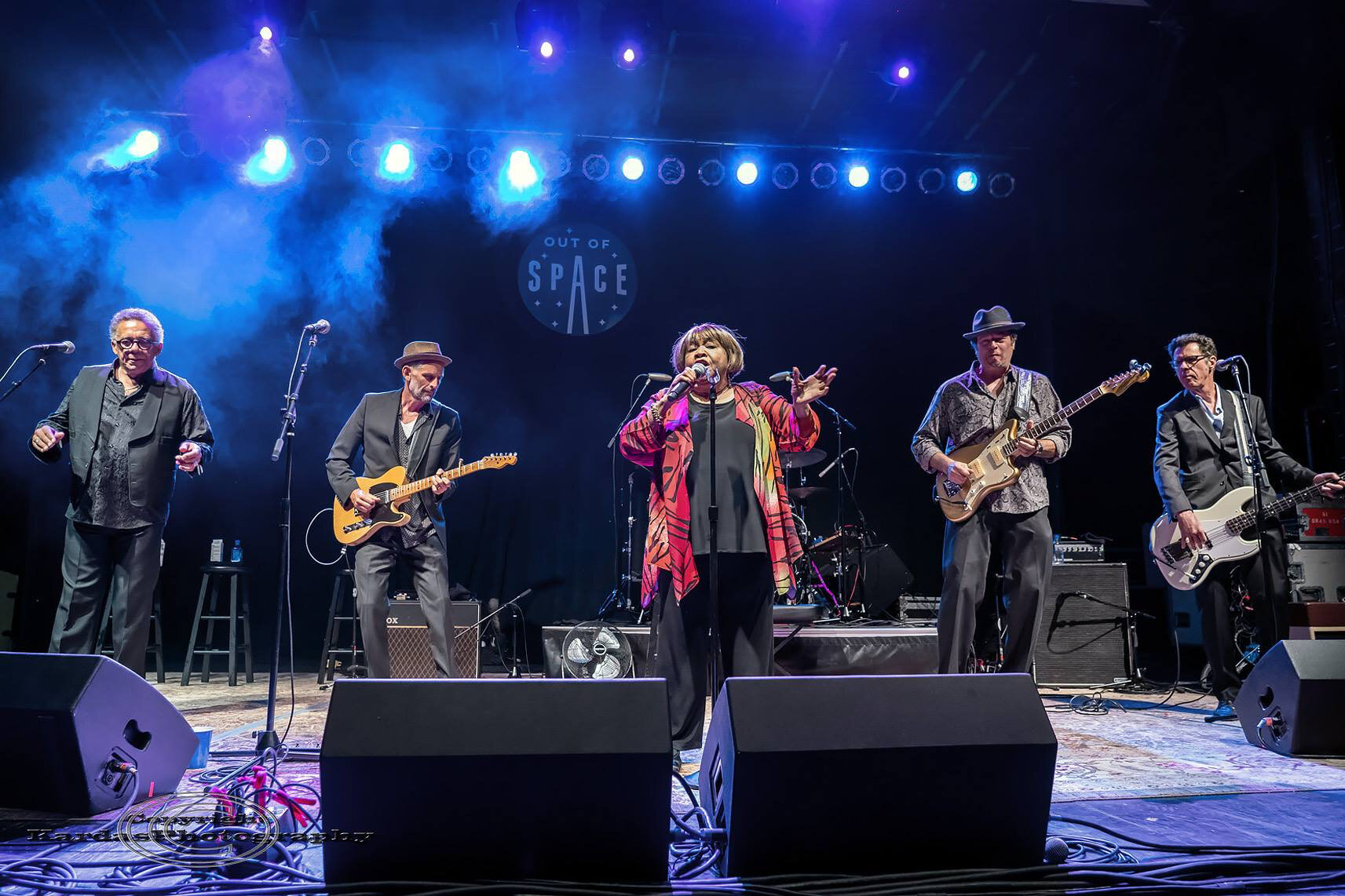 Dave, Mavis Staples and band. Evanston Out of SPACE