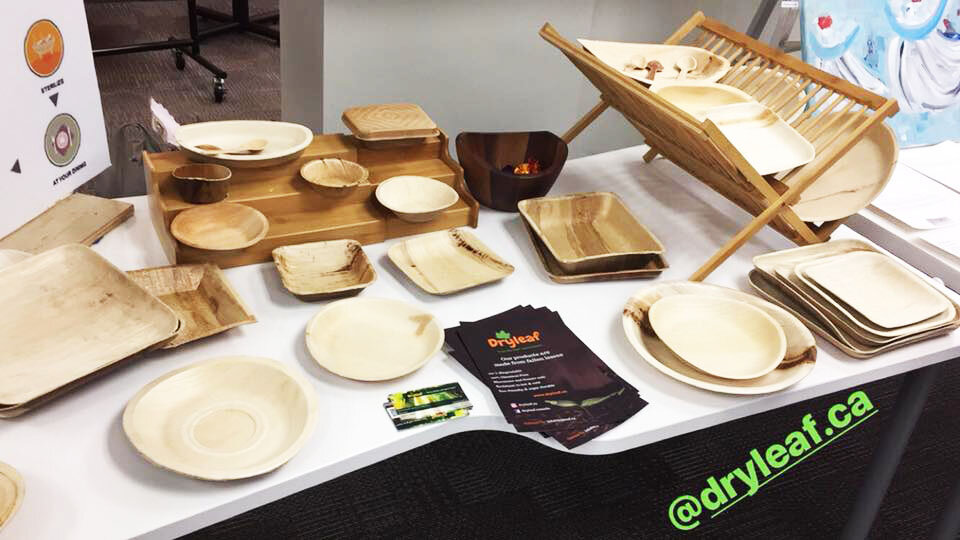 Dryleaf launched their compostable dinnerware made from the Areca Palm.