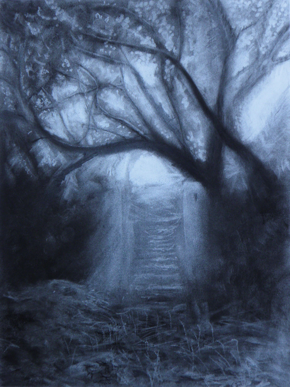 INTO THE LIGHT - - original painting by Anna Vyce