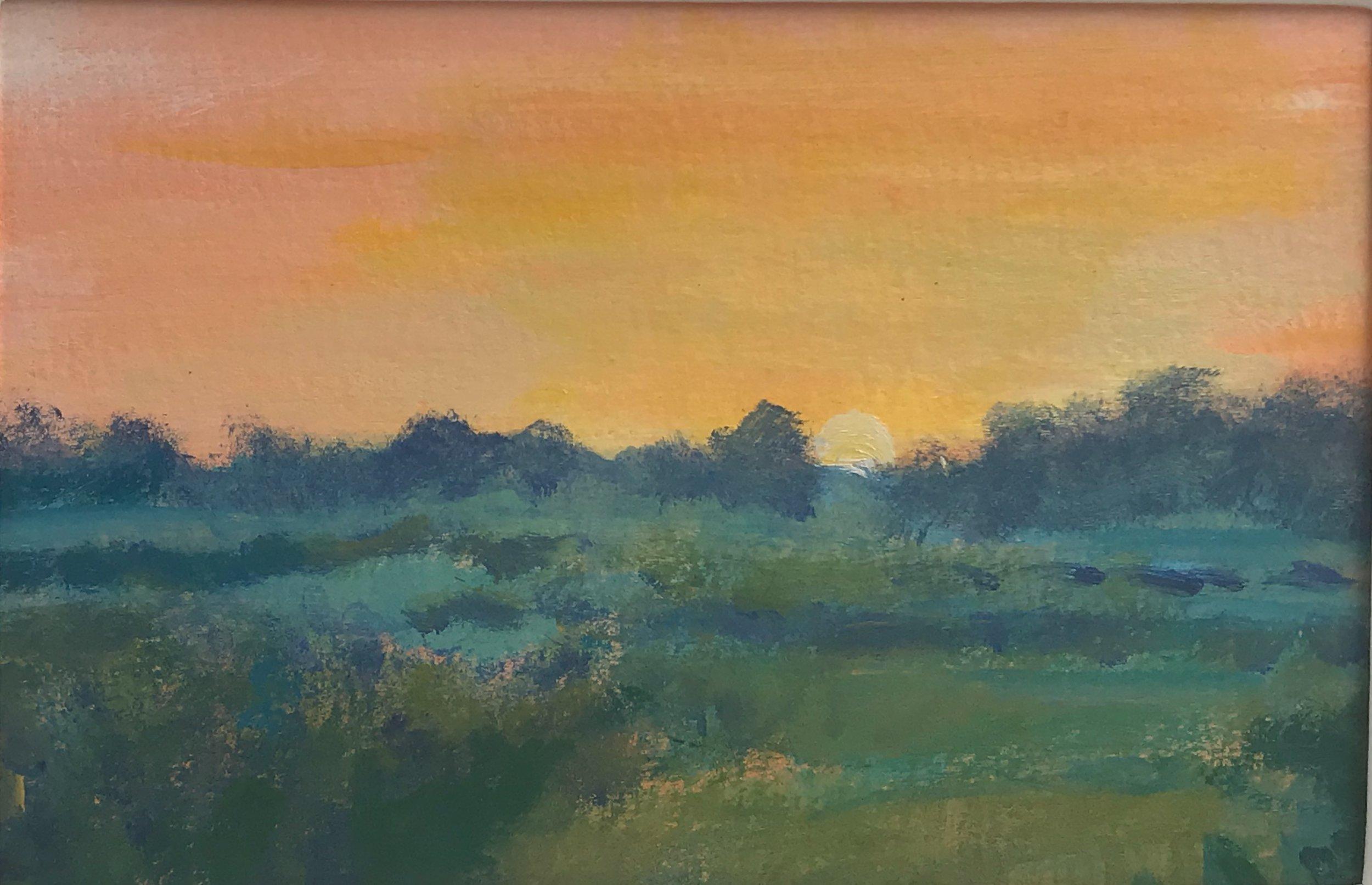 Cornish Sunset- original painting by Anna Vyce.jpg