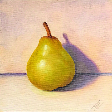 A solo Pear- original painting by Anna Vyce.jpg