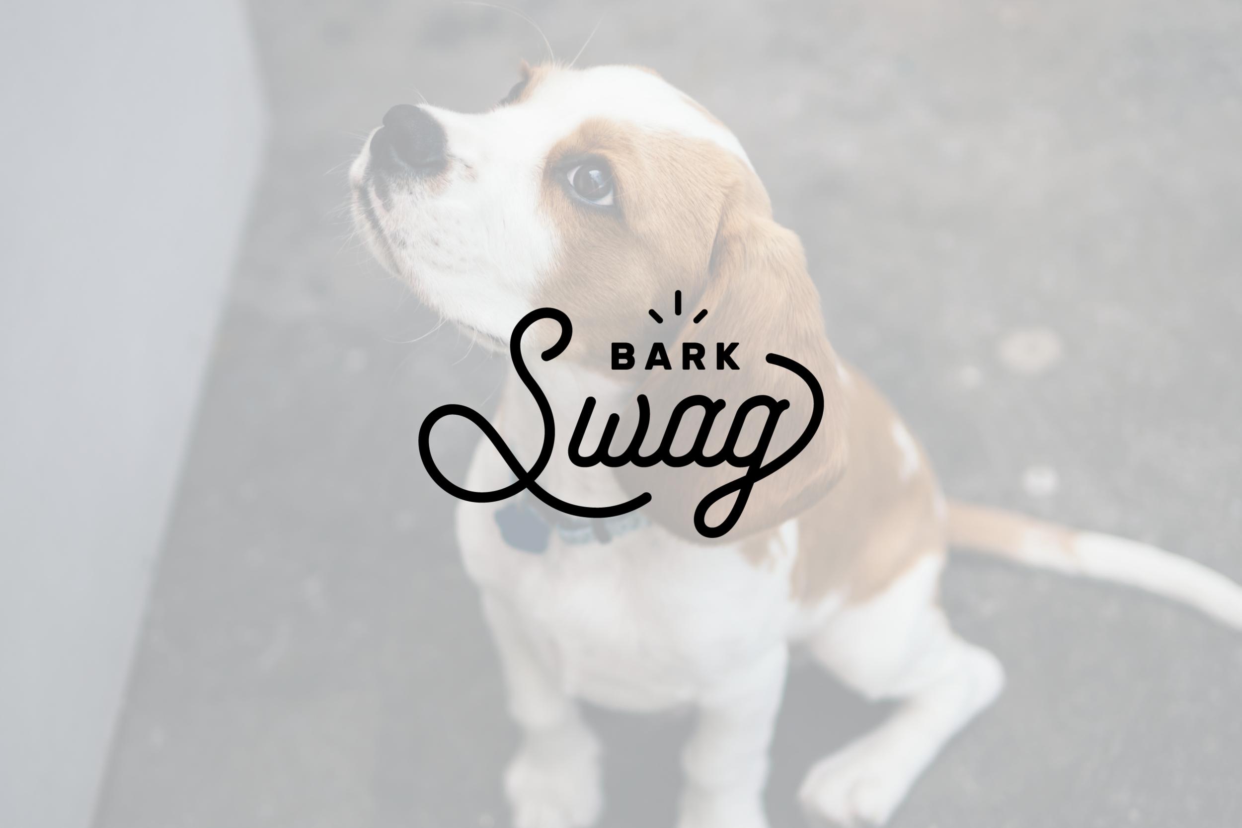 Logo design for BARKSwag, handmade dog bandanas in Huntsville, Alabama.