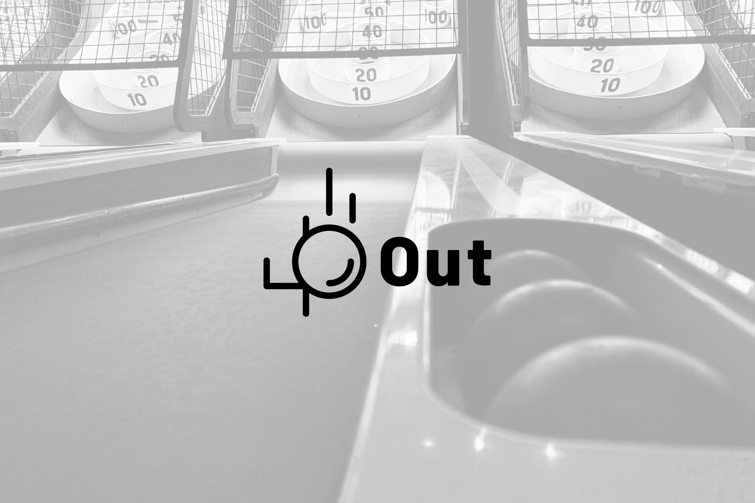 Logo design for 40out, competitive Skee-Ball podcast in Huntsville, Alabama.
