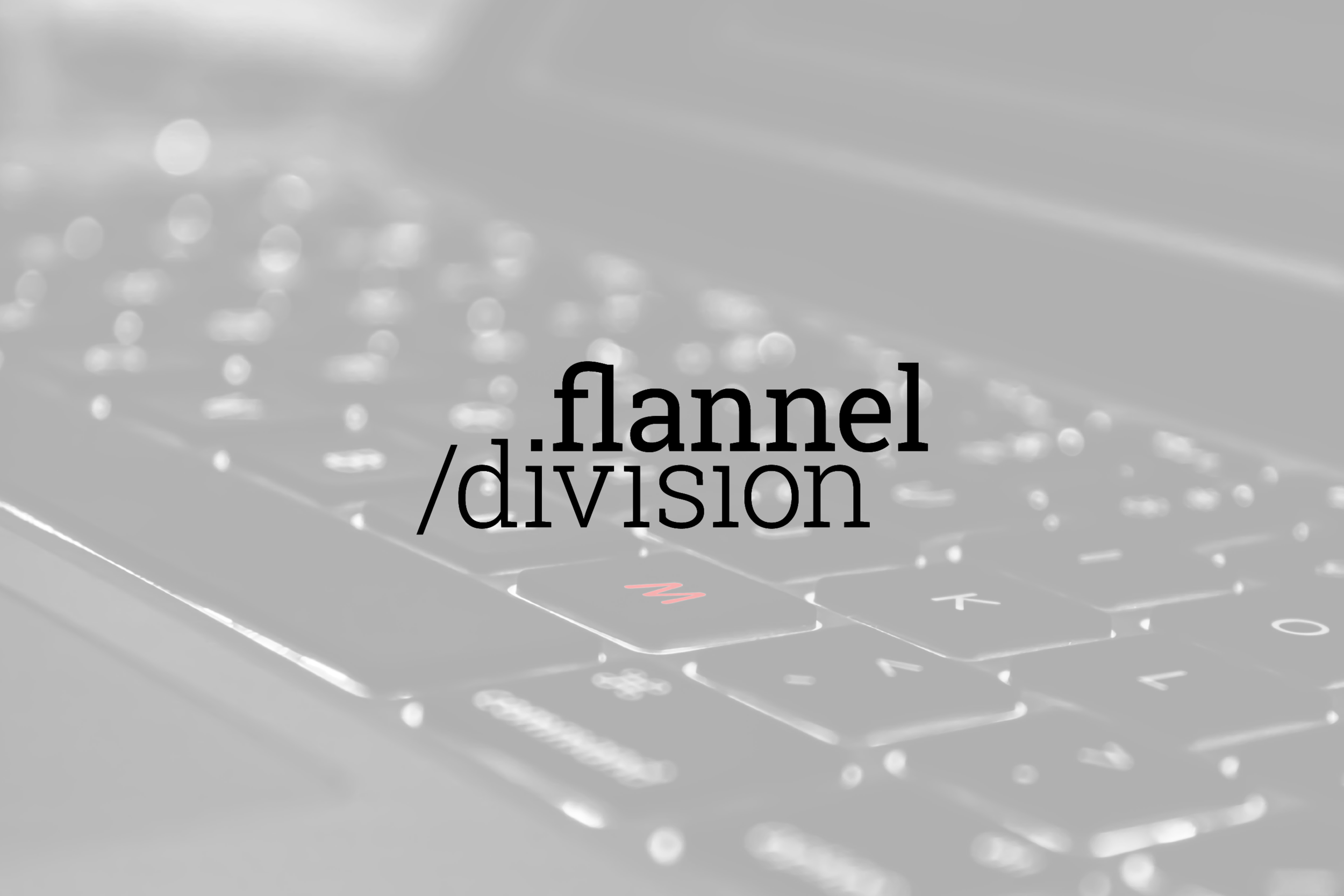 Logo design for Flannel Division, tech company in Austin, Texas.