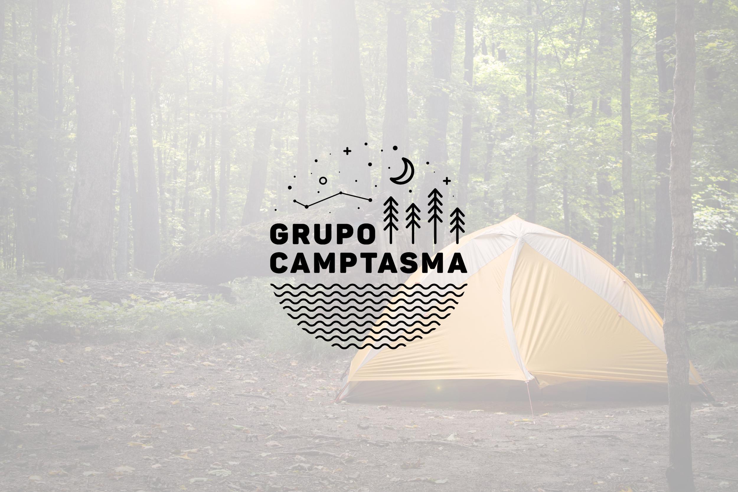 Logo design for Grupo Camptasma, camping group in Austin, Texas.