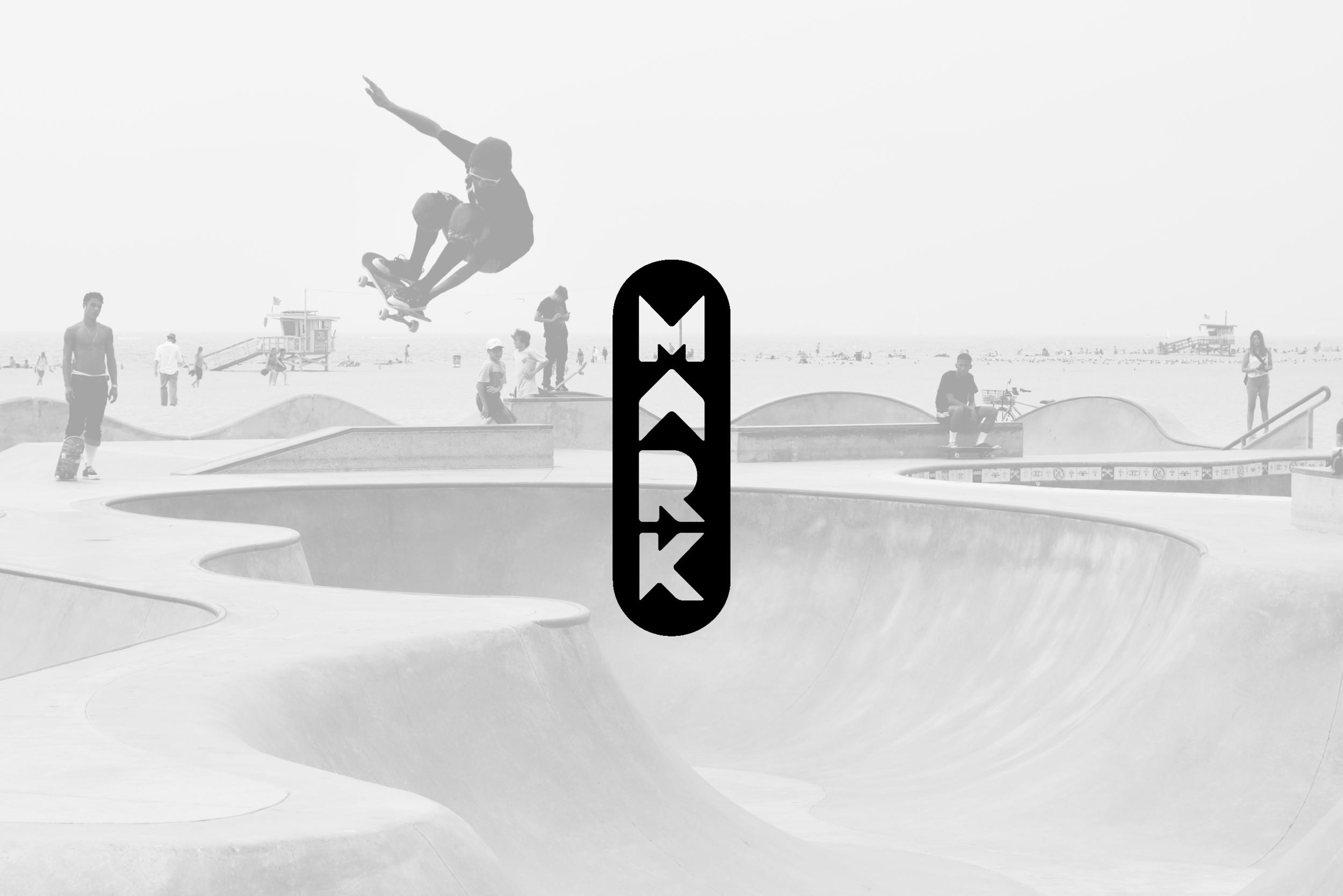 Logo design for MARK Skateboards, skateboard company in Austin, Texas.
