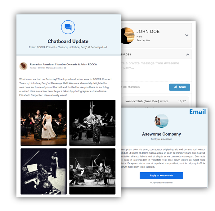 Customer EngaGEment - built-in CRM Platform allows you to send customer broadcast, 1:1 messages, subscriber updates and much moreTrack communication history and staff notes for each customer, share with team membersPost updates about your upcoming events, new offers, noteworthy news. Easily Connect with your existing Email Campaign.