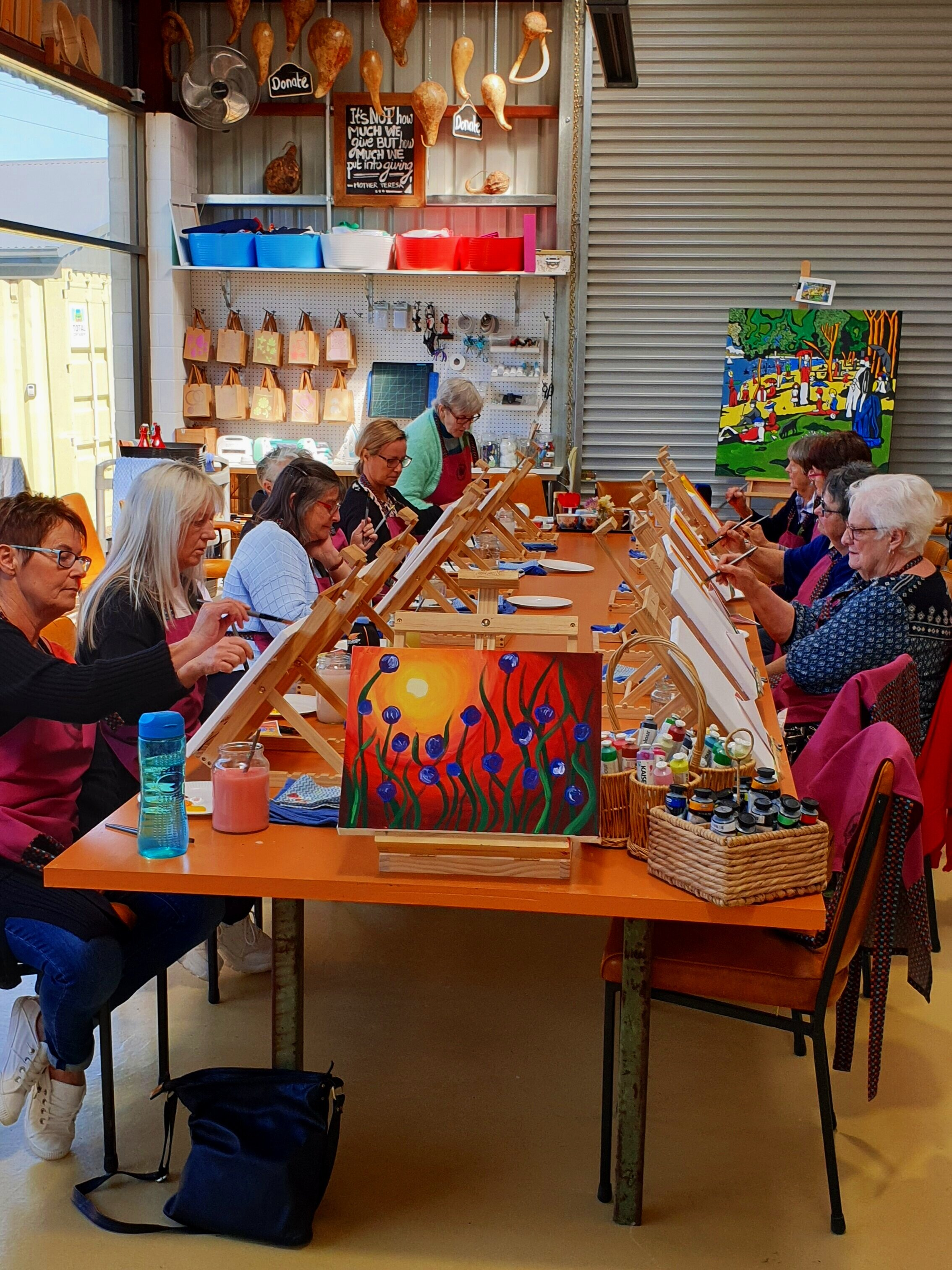 GROUP BOOKINGS…The studio can be booked for sessions run by Trish, the owner of Create Geelong, as a guided creative and social time. Bring some snacks and drinks and enjoy some well earned artistic pleasures in a relaxed supportive space. -