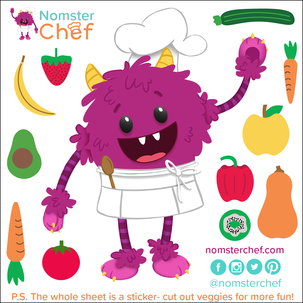 nomster chef kiss cut 4 inch stickers_with %22cut me%22 message-01.png