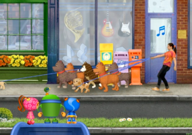 Me as a dog walker in Umi City (Super Soap episode)