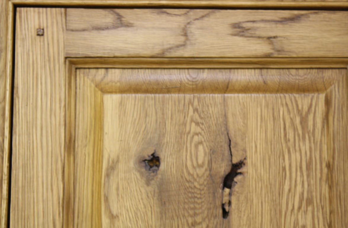 FUMING   - A technique used to chemically age and color wood without the use of stains.
