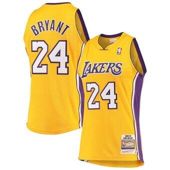 Kobe Bryant Los Angeles Lakers Gold Hardwood Classics 2008-09 ...