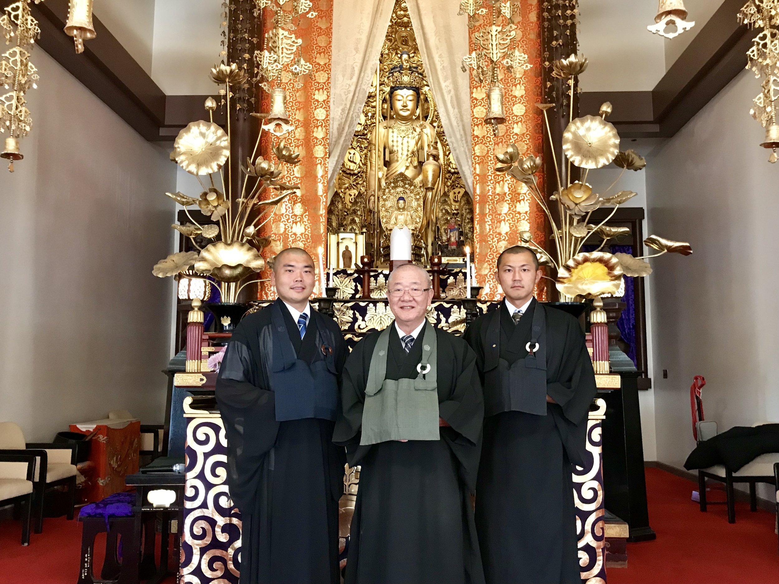 From Left to Right  Rev. Hirosato Yoshida, Bishop Shugen Komagata, Rev. Masataka Hoshino