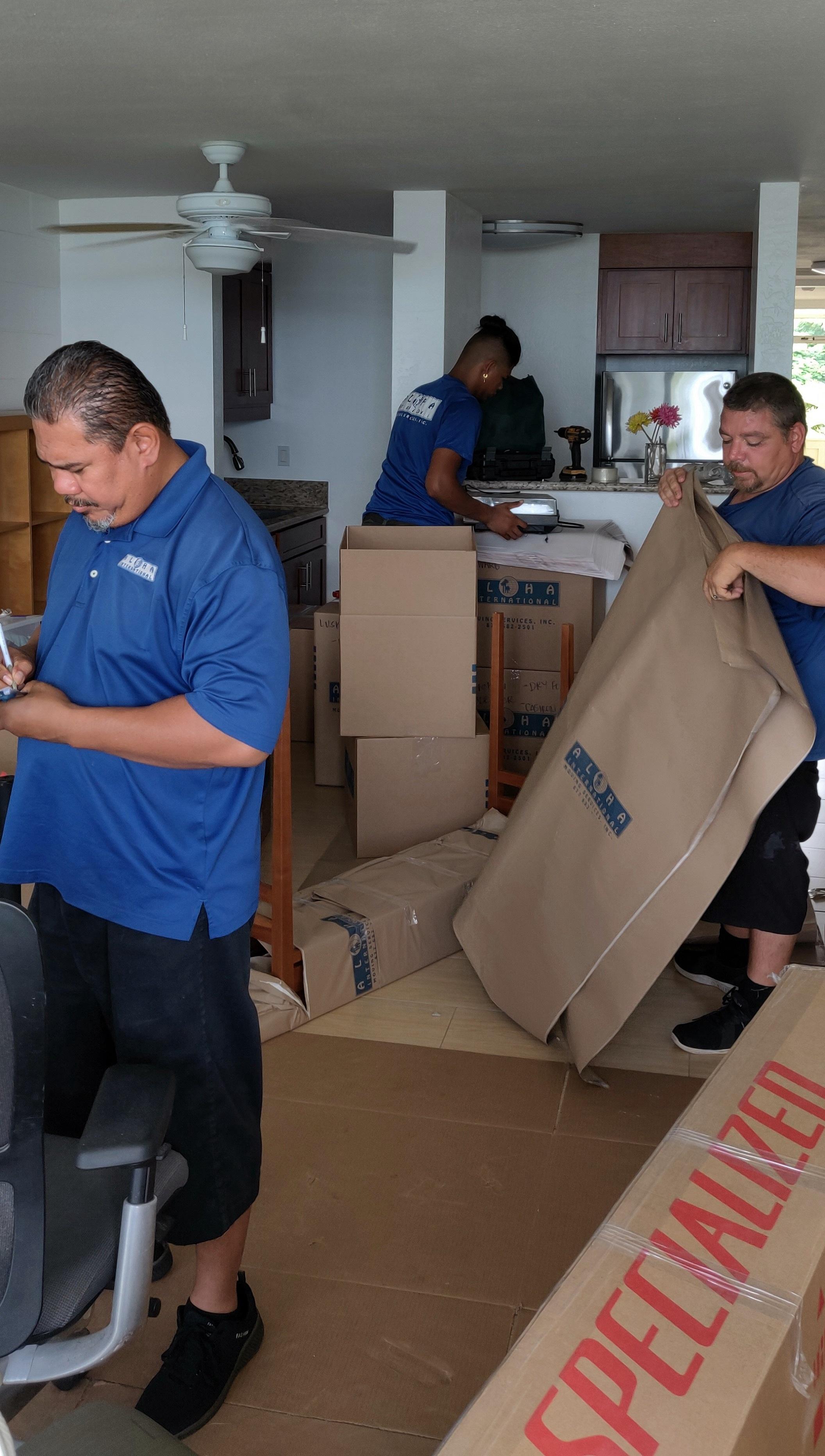 Hawaii moving company full-service move.