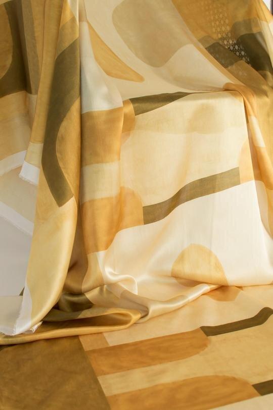 Blocks | OCHRE on silk