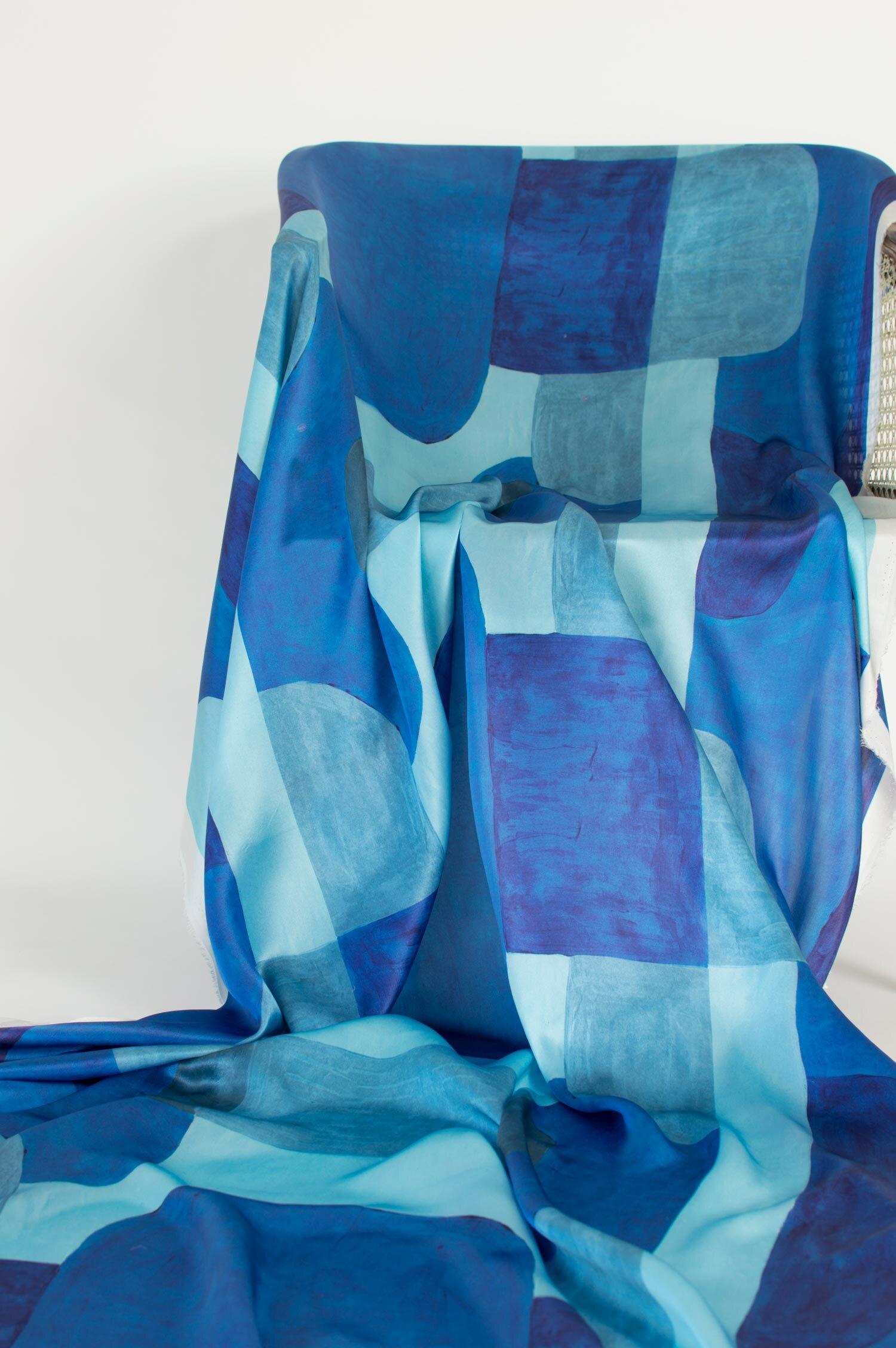 Blocks | COBALT on silk