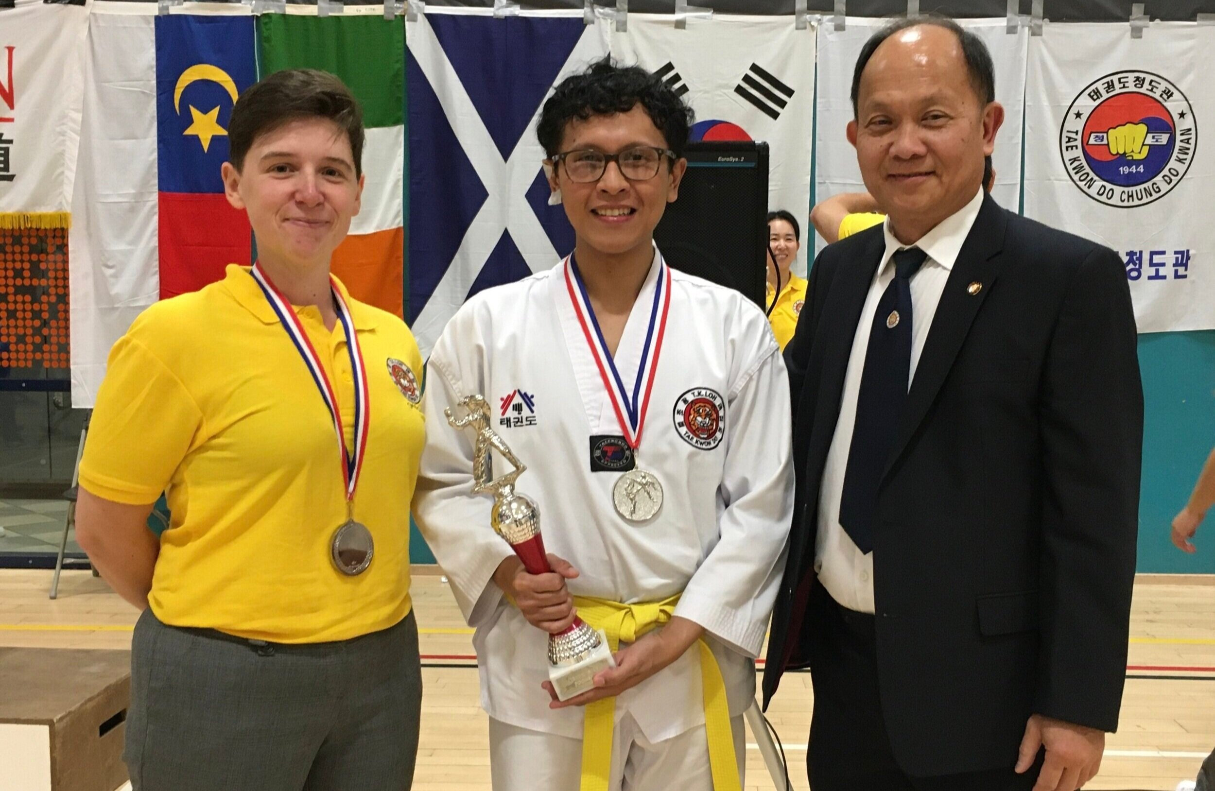 London Peckham, entering for the first time, won silver in kyorugi and gold and silver for poomsae.