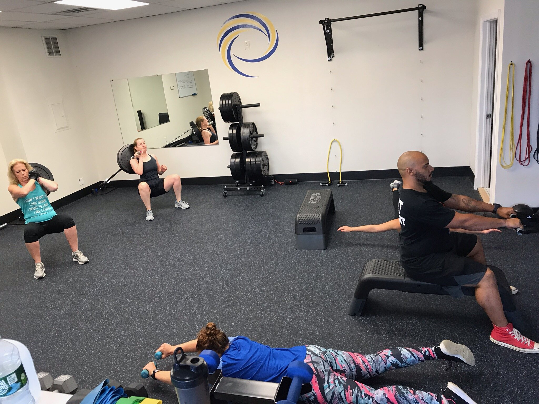 Group Fitness Classes - Affordable group fitness classes providing 1-hour high intensity and strength training movements that will push you past your fullest fitness potential. Through alternating obstacles and motivating coaches, you'll leave feeling accountable and accomplished.