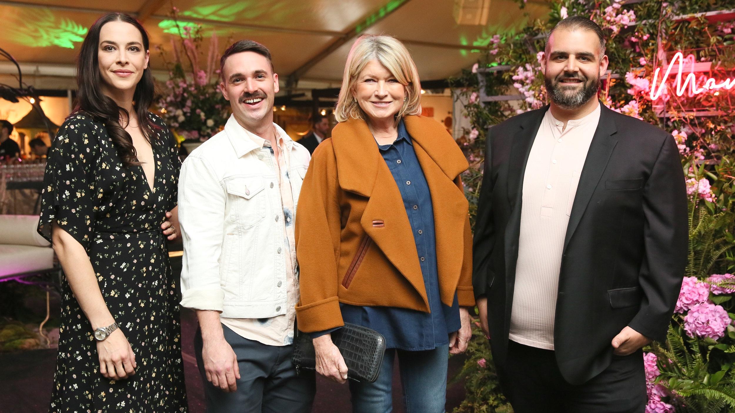 Founders Mel Brasier, Garrett Magee, Martha Stewart (Not a Manscaper) and James DeSantis