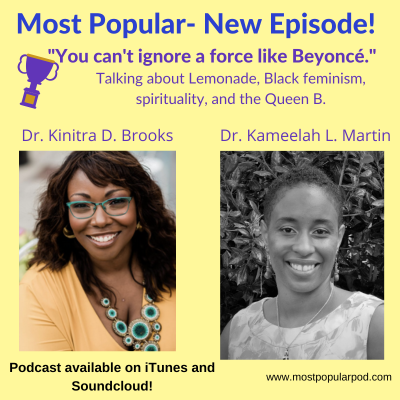 Podcast cover image featuring Dr. Kinitra D. Brooks and Dr. Kameelah L. Martin
