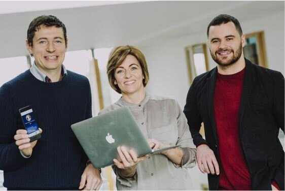 Declan Sweeney (CEO, CampusConnect), Teresa Purdy (Head of Global Marketing, Ulster University), Conan Meehan (Global Marketing Executive Assistant, Ulster University).