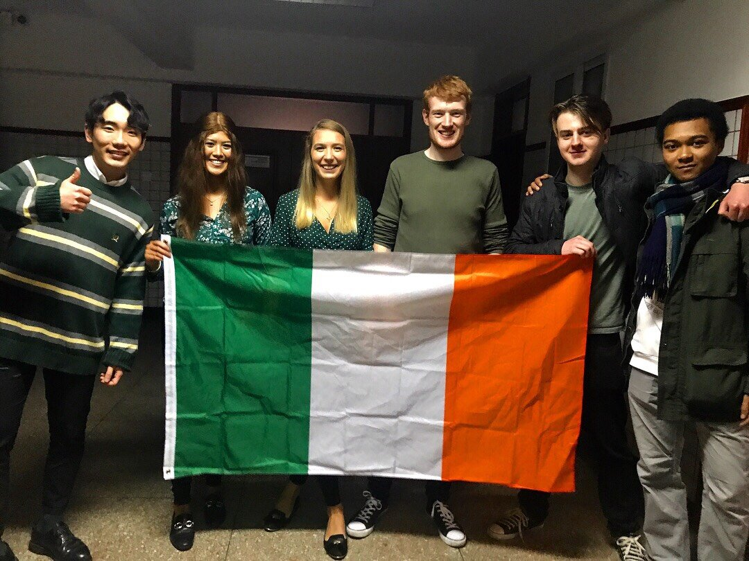 Jiang Jia Moriarty - Capital University of Economics and Business, China   Left is our Korean friend Jin, then me katie and Caoilte who are the other dcu students, beside Caoilte is Fionn who is from Ireland but permanently lives in china and the other guy is Fionn's friend PJ.