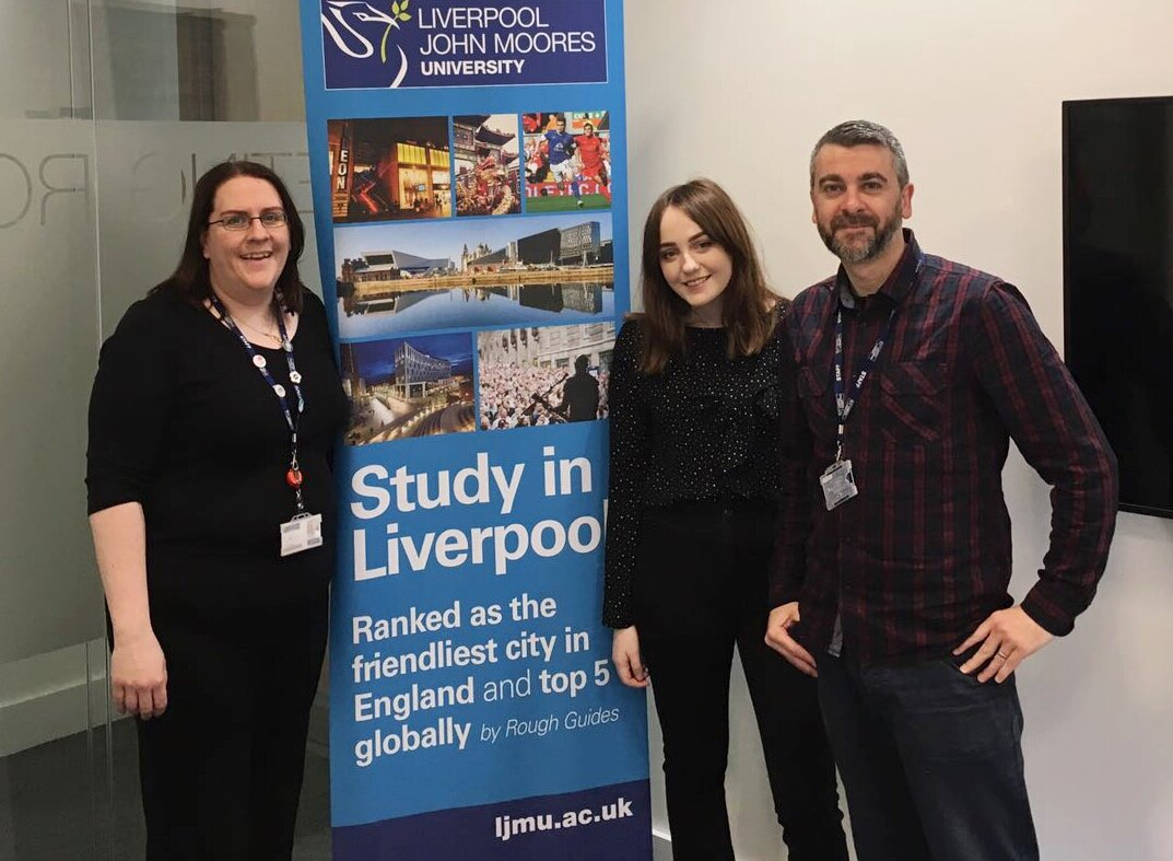 Gemma Smith, Allie Davies, Shaun Kent - LJMU international recruitment team